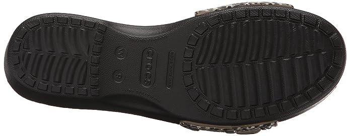 crocs Damen Sarah Leopard Sandal Women Offene Keilabsatz: Amazon.de: Schuhe  & Handtaschen