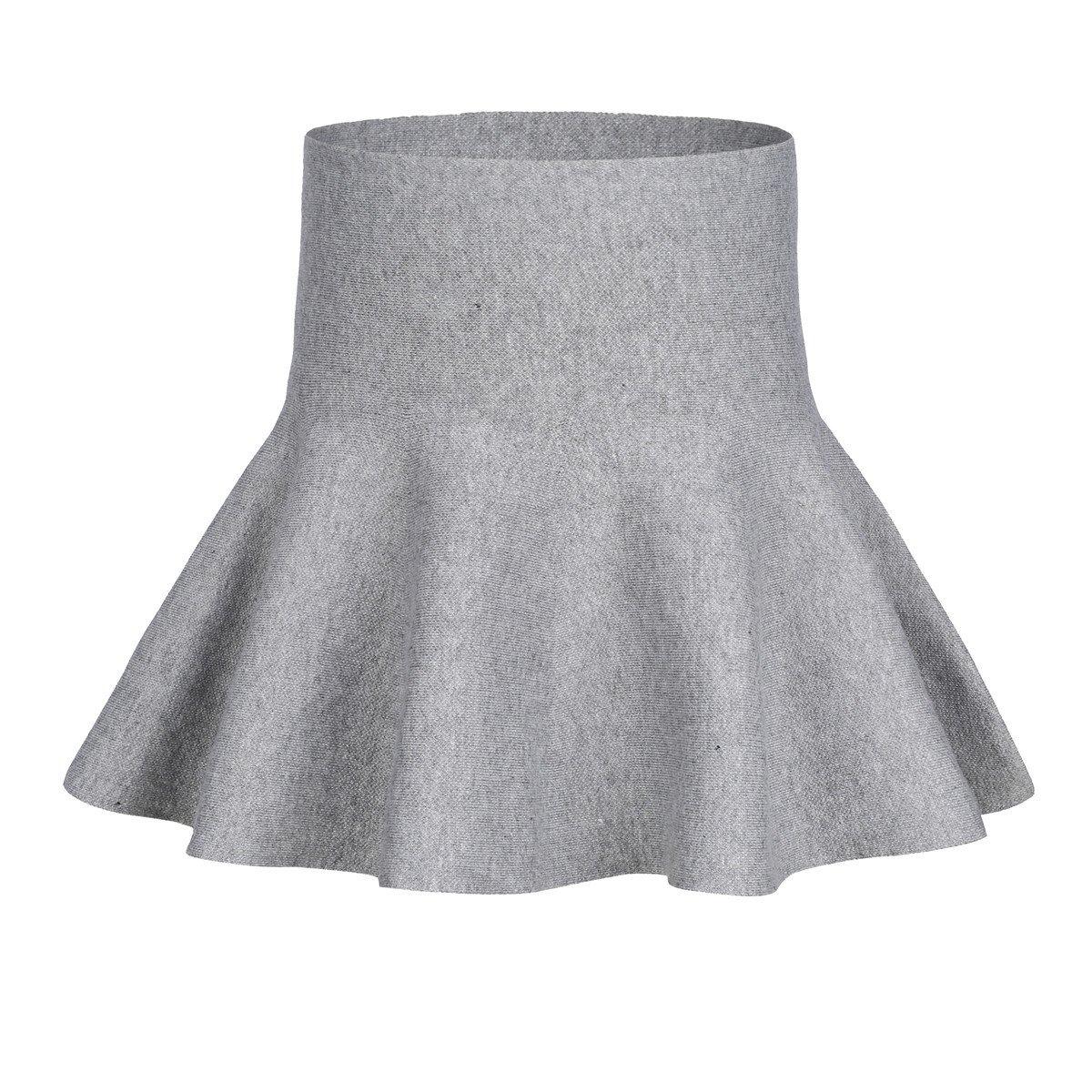 storeofbaby Gonne a pieghe casuali a pieghe svasate a maglia a vita alta da bambina Girls Skirts_EU