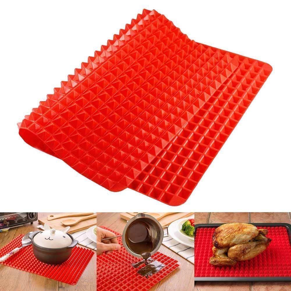 PYRAMID SILICONE BAKING MAT   FREE OVEN LINER   Silicone Baking Mat for Healthy Cooking, Non Stick Baking Sheet, Baking Mat (1)