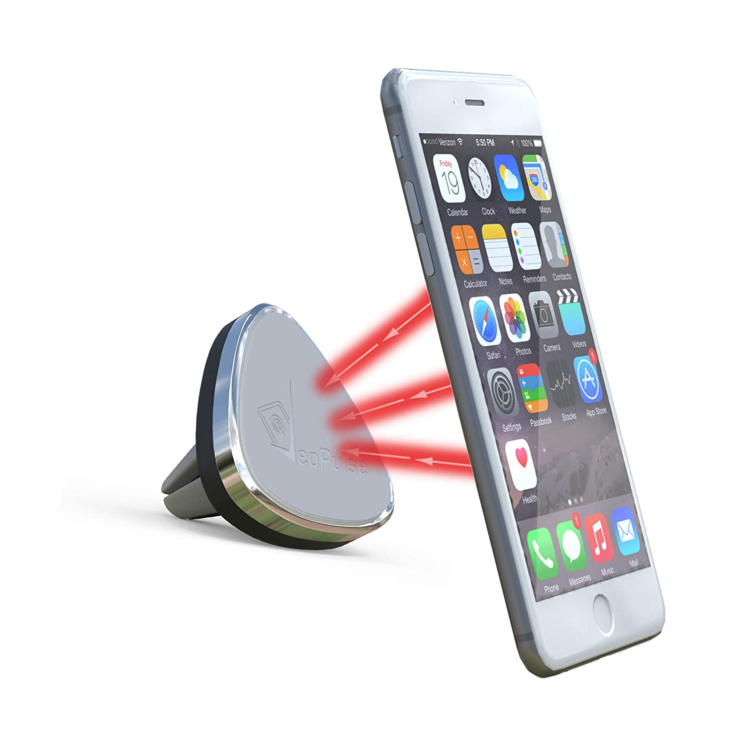 Veopulse Phone Holder Magnetic For Car Air Vent Grey Fdt Motor Universal Electronics
