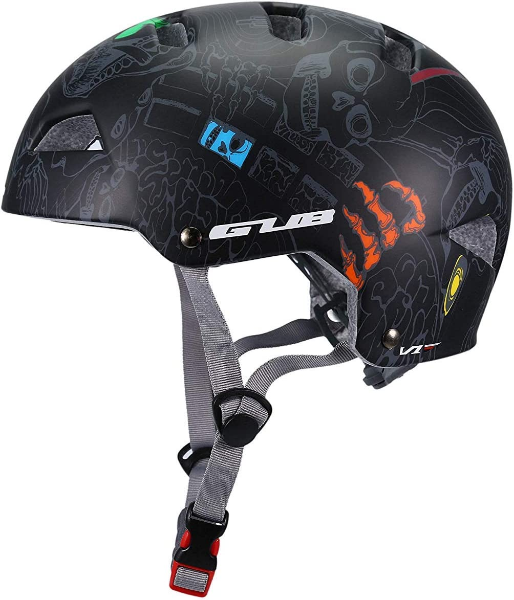 Asvert Casco Bicicleta Hombre con Ajustable Ligero, Casco de Patinaje de Velocidad,Carretera, Rodillo, monopatín,Unisex Talla M/L