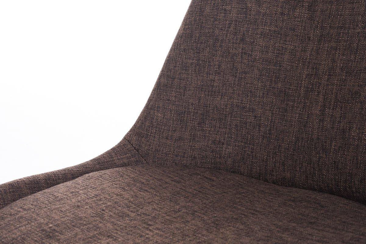 CLP Chaise Design Retro Borneo en Tissu I Chaise De Salle A Manger Rembourr/ée avec Pi/étement en Bois Dossier Et Assise Ergonomique Noir Noir