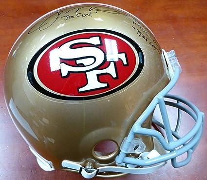Joe Montana Autographed San Francisco 49ers Full Size Authentic Proline  Helmet  quot Joe Cool c635b0947