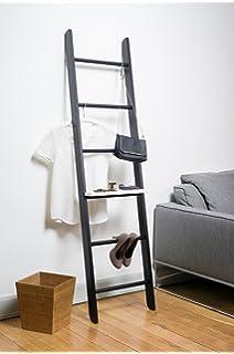 Accesorio para Escalera de Madera Maciza (Color Blanco) ¡Amplía la función de tu perchero o escalera decorativa! Conviértela en un pequeño estante.: Amazon.es: Hogar
