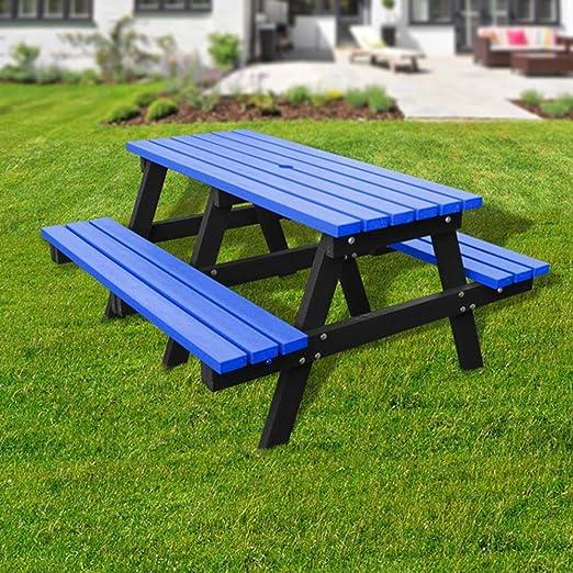 Arredi In Plastica Riciclata.Plastica Riciclata Tavolo Da Picnic Bench Amazon It Giardino E Giardinaggio