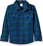 Crazy 8 Baby Boys Long Sleeve Double Pocket Button Up Shirt