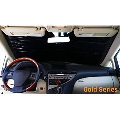 HeatShield The Original Auto Sunshade, Custom-Fit for Honda CR-V SUV w/Sensor 2020, 2020, 2020, Gold Series: Automotive