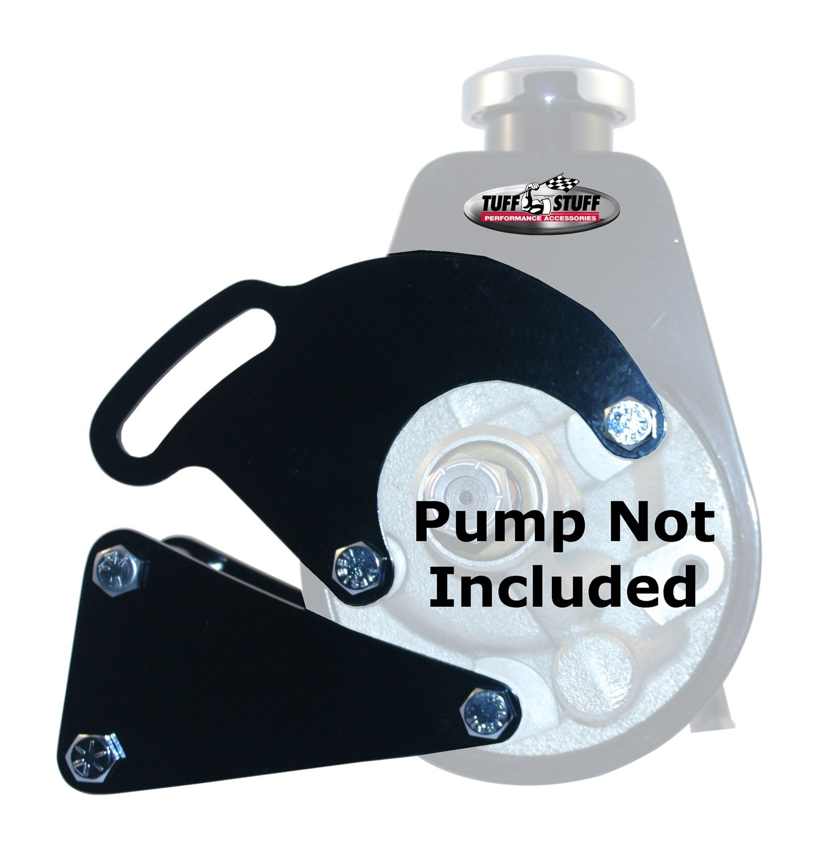 Tuff Stuff 6507B Black Power Steering Pump Bracket for Big Block Chevy