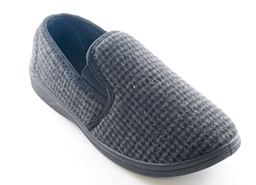 Coolers FT0636 - Pantofole tradizionali da uomo Tom Franks in tweed a  schacchi 39cc2ea129a