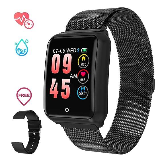 GOKOO Smartwatch Relojs Inteligente IP68 Impermeable Reloj Deportivo con Cronómetro Monitor de sueño Podómetro Calendario Control