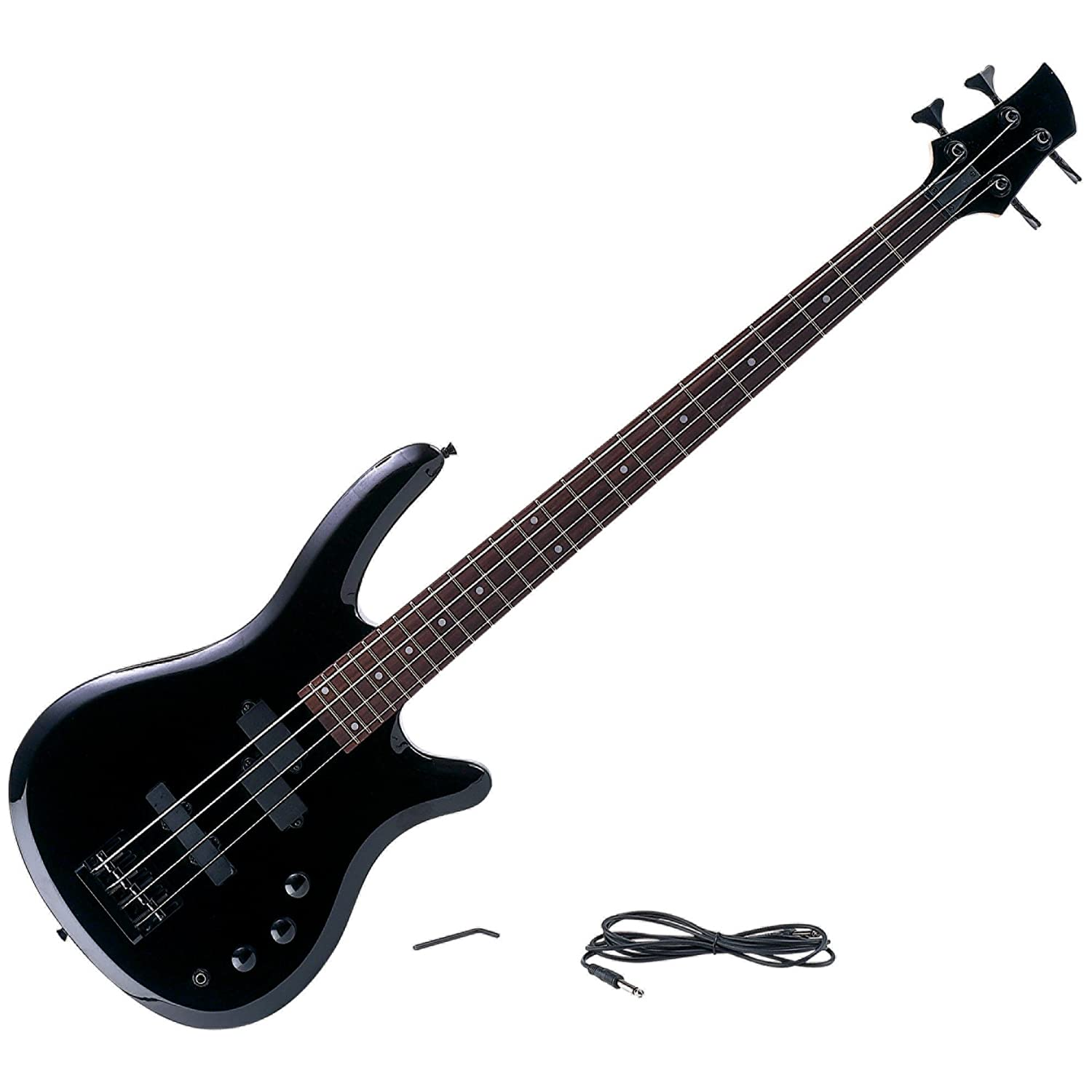 New Maxam 43 Inch Electric Bass 4 String Guitar 2 Tone Controls Phone Jack Strap Buttons Amp Cord B0043E9DMK