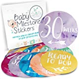 Pregnancy Stickers - 16 Rainbow Baby Belly Bump Weekly Milestone Sticker for Mom-to-be upto 40 Weeks with 4 Amazing Free Stickers - Perfect Gift Ideas for Women