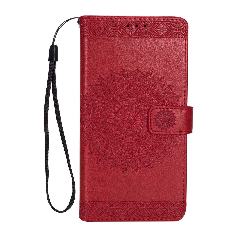 DENDICO Funda LG K10 2017 Tipo Libro Piel Carcasa Plegable Cartera para LG K10 2017 Ultra-Delgado Billetera - Oro Rosa
