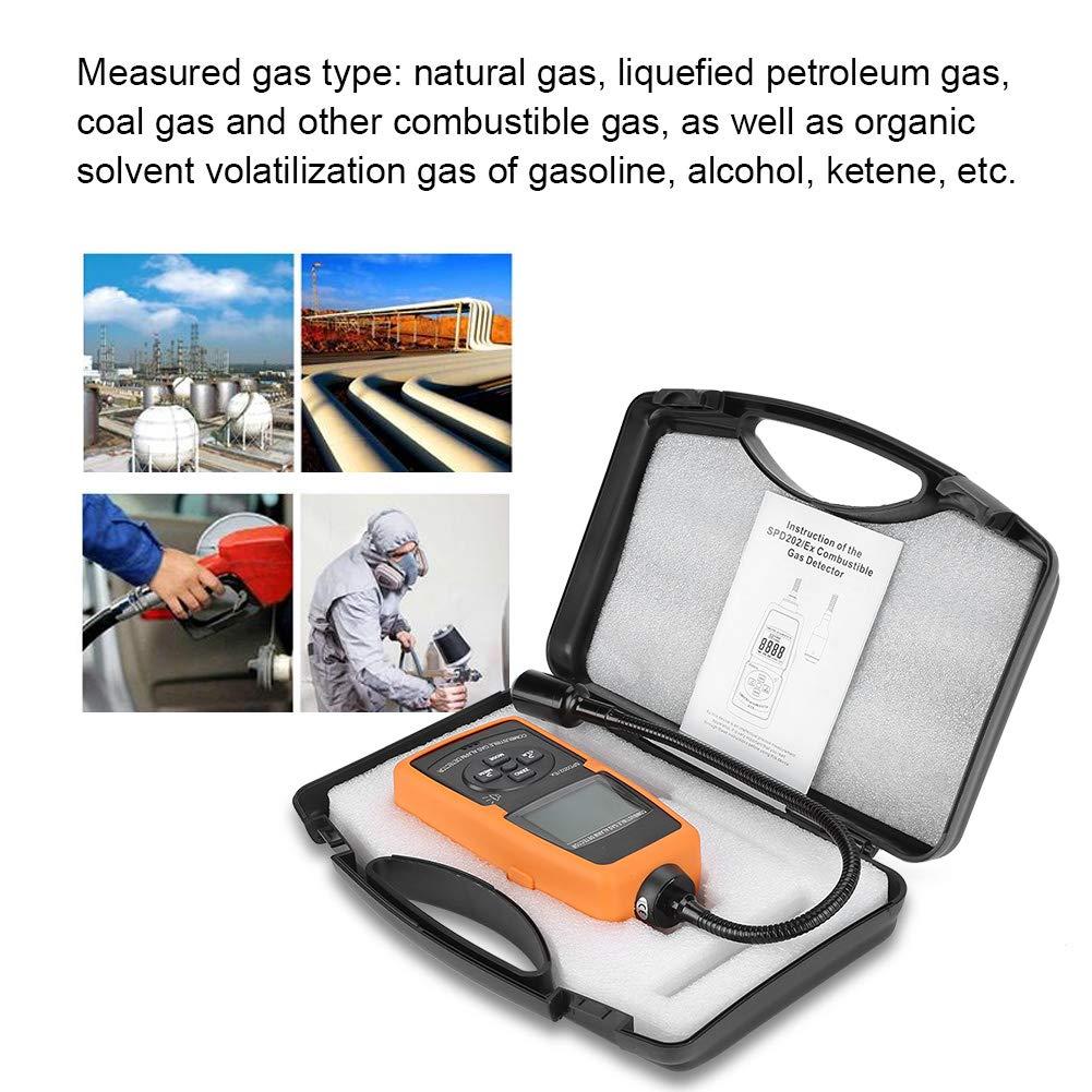 SPD202 / Ex detector de fugas de gas inflamable LPG Carbón Gas natural Gas digital Medidor de alarma de gas combustible: Amazon.es: Industria, ...