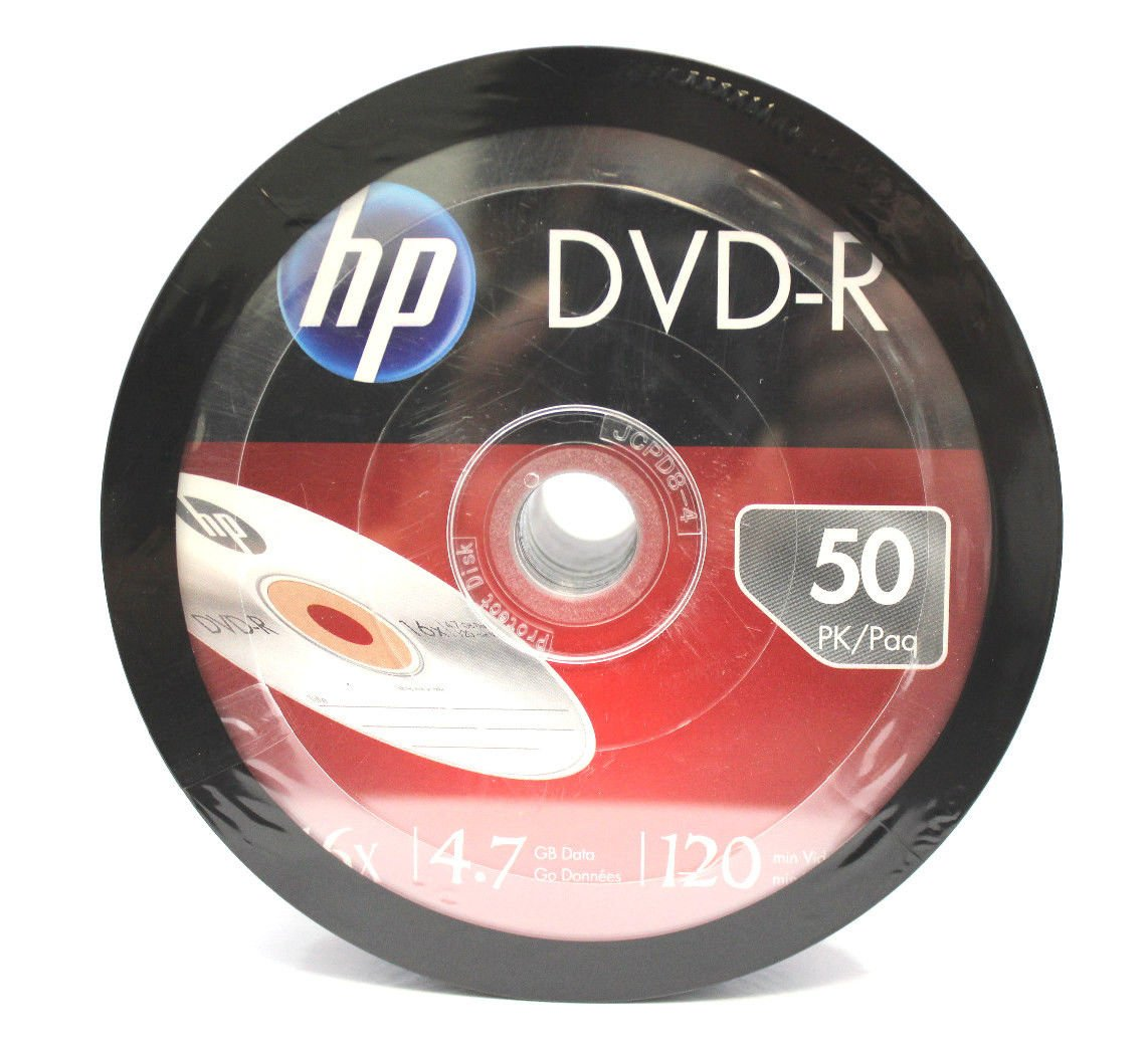 (1800-Pack) HP Blank DVD-R DVDR Recordable Branded 16X 4.7GB Media Disc DVDs