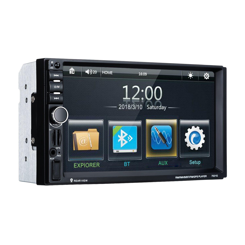Excelvan Reproductor MP3 para Coche, 1 DIN 4' Autoradio Bluetooth Coche con Pantalla LCD, Auto Esté reo, Soporte Bluetooth/Dual USB/TF / AUX/FM / Am/Llamadas de Manos Libres, Color Negro 1 DIN 4 Autoradio Bluetooth Coche con Pantalla LCD
