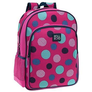 Roll Road 4652351 Dots Mochila Escolar, 15.6 litros, Color Rosa: Amazon.es: Equipaje
