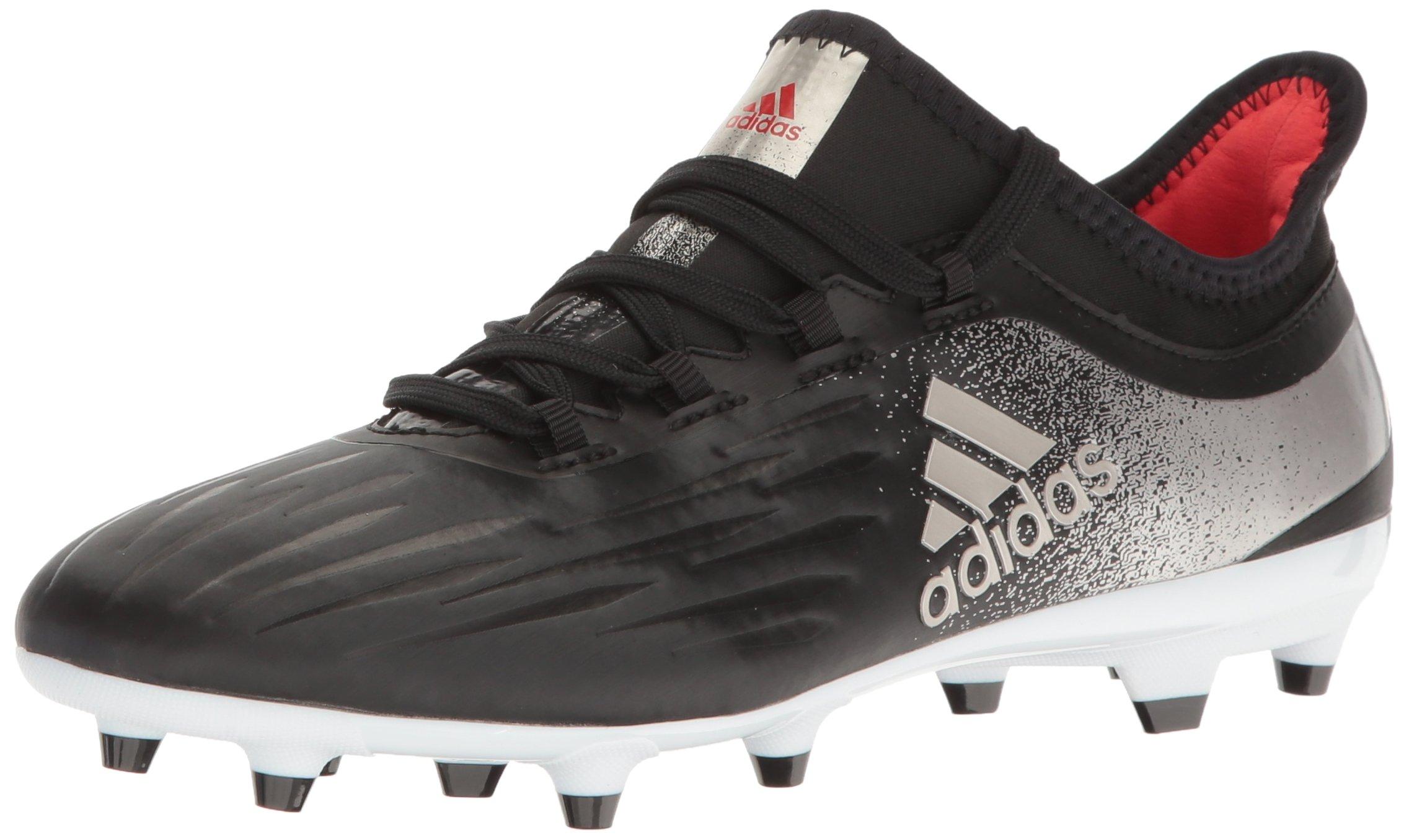 adidas Women's X 17.2 FG W Soccer Shoe, Black/Platino Core Red S, 9 M US