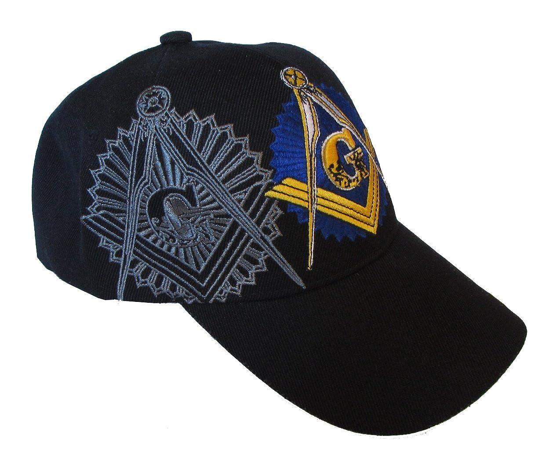 Amazon.com  USA Headwear Freemason Embroidered Black Adjustable Hat Mason  Masonic Lodge Baseball Cap (Black)  Sports   Outdoors e859807e789
