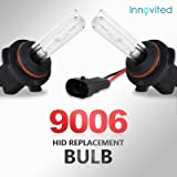 """Innovited HID Xenon Replacement Bulbs """"All Sizes and Colors""""- 9006 6000K (1 Pair)"""