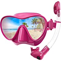 Rodicoco Dry Top Snorkel Set, Upgrade Frameless Snorkel Mask Snorkel Goggles, Foldable Diving Mask with 180 Degree…