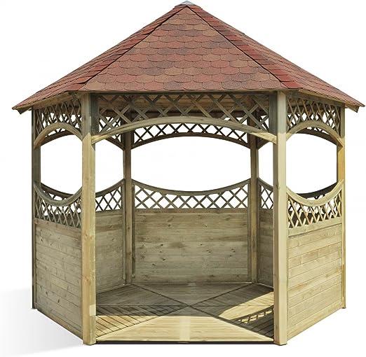 Kiosque en bois de jardin Red: Amazon.fr: Jardin