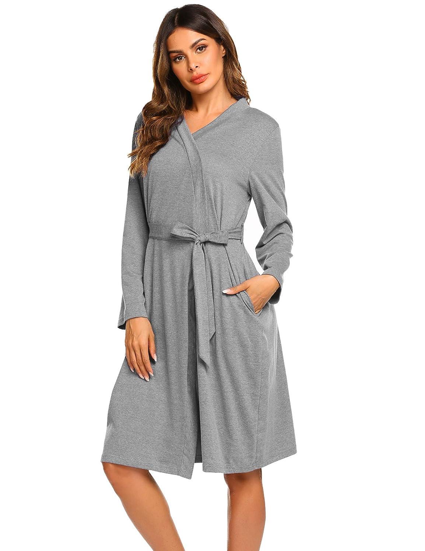 Ekouaer Maternity Robe 3 in 1 Labor Delivery Nursing Gown Hospital Breastfeeding Dress Bathrobes