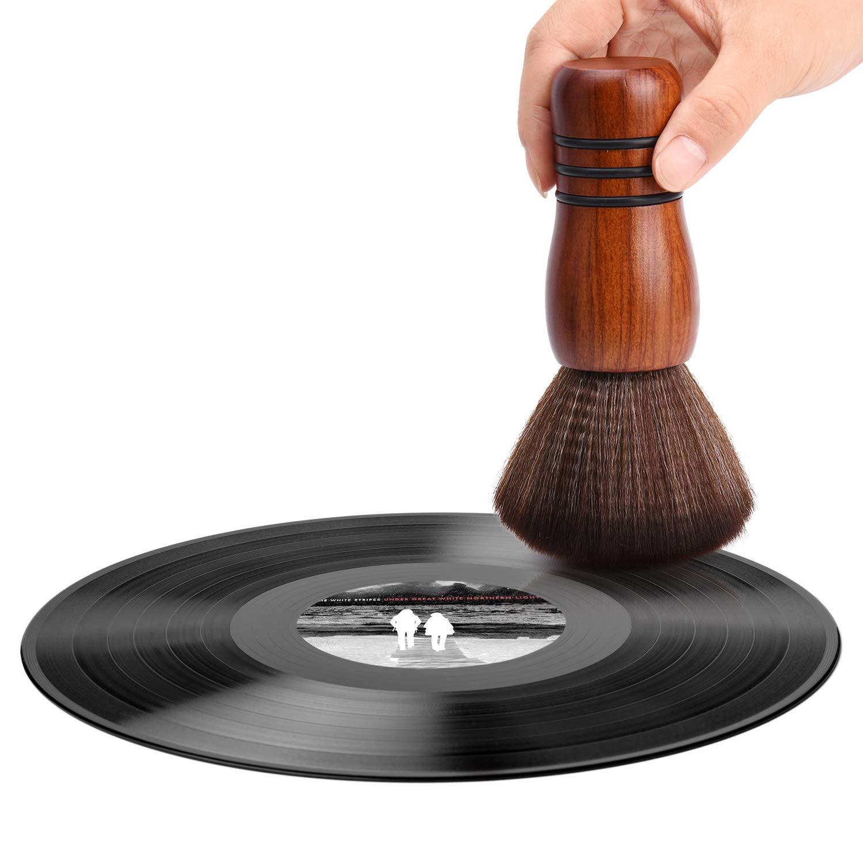 Vinyl Record Brush Cleaner LP Turntable Clean Anti-Static Soft CD Album Cartridge Cleaning