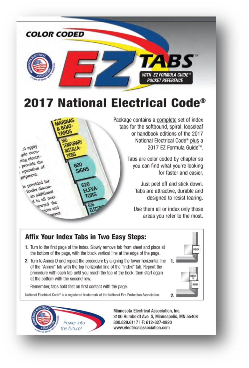 EZ TABS (COLOR CODED) 2017 : National Electrical Code (NEC), Color Coded EZ Tabs with EZ Formula Guide, for 2017 Edition NEC Code