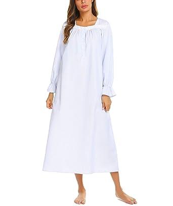 38f2b0355b Brinol Damen Nachthemd Schlafanzüge Nachtwäsche Negligees Kurzarm Kurz  Absatz Dessous Baumwolle Sleepshirt