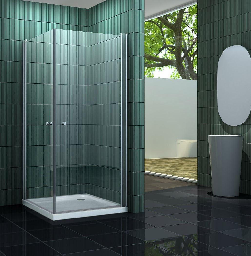 Mampara de ducha sin 90 x 90 cm BANHO: Amazon.es: Bricolaje y herramientas