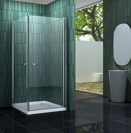 Mampara de ducha sin BANHO 80 x 90 cm: Amazon.es: Bricolaje y herramientas