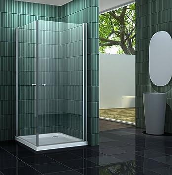 Mampara de ducha sin BANHO 80 x 90 cm: Amazon.es: Bricolaje y ...
