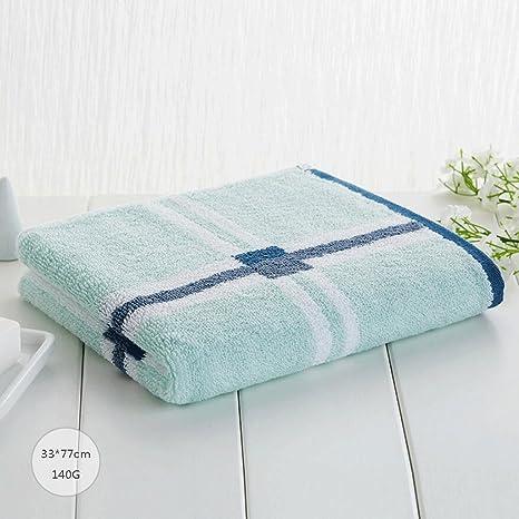ZLR Toalla a cuadros de algodón sólido adultos hombres y mujeres Toalla de lavado a la
