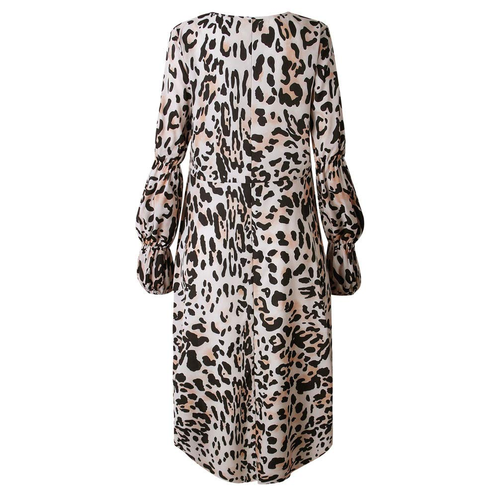 Lenfesh Pullovers Tops Casual Camisetas de Volantes para Mujer Camisas  Oficina de Moda Leopardo Blusa Asimetrica 76fbafdcd54