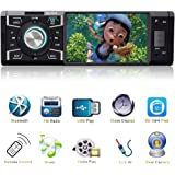 Car Stereo With Bluetooth Single Din FM Radio and MP5 Player USB/SD/AUX/FM Receiver Wireless Remote Control