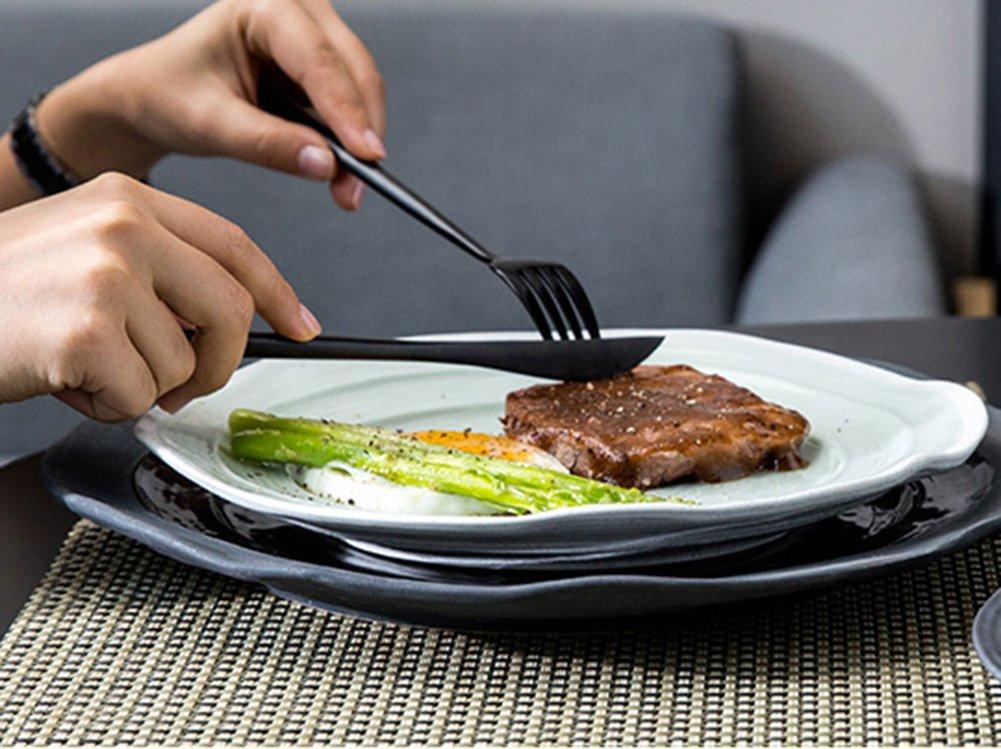 Amazon.com | Black Silverware Set, AOOSY Matte Black Flatware Set Luxury 20 Pieces 18/10 Stainless Steel Cutlery Utensil Tableware Sets, Include Knives ...