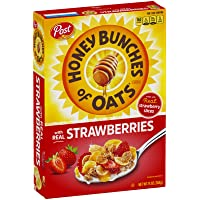 Post Honey Bunches of Oats with Real Strawberries Whole Grain Cereal, 368g