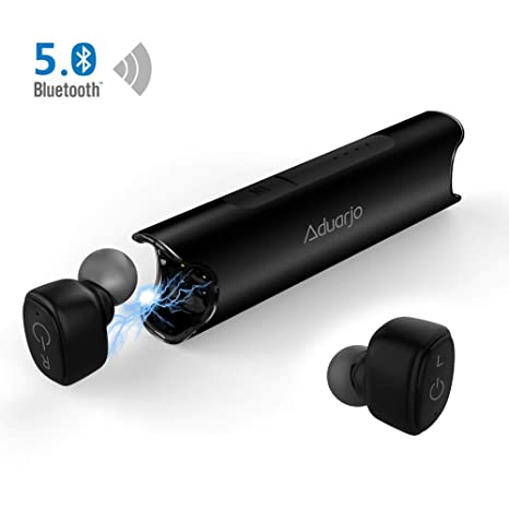 ddb3b69e5a1 True Wireless Earbuds, Aduarjo Bluetooth Headphones Wireless Earphones  Bluetooth 5.0 TWS Cordless Headphones IPX7 Waterproof