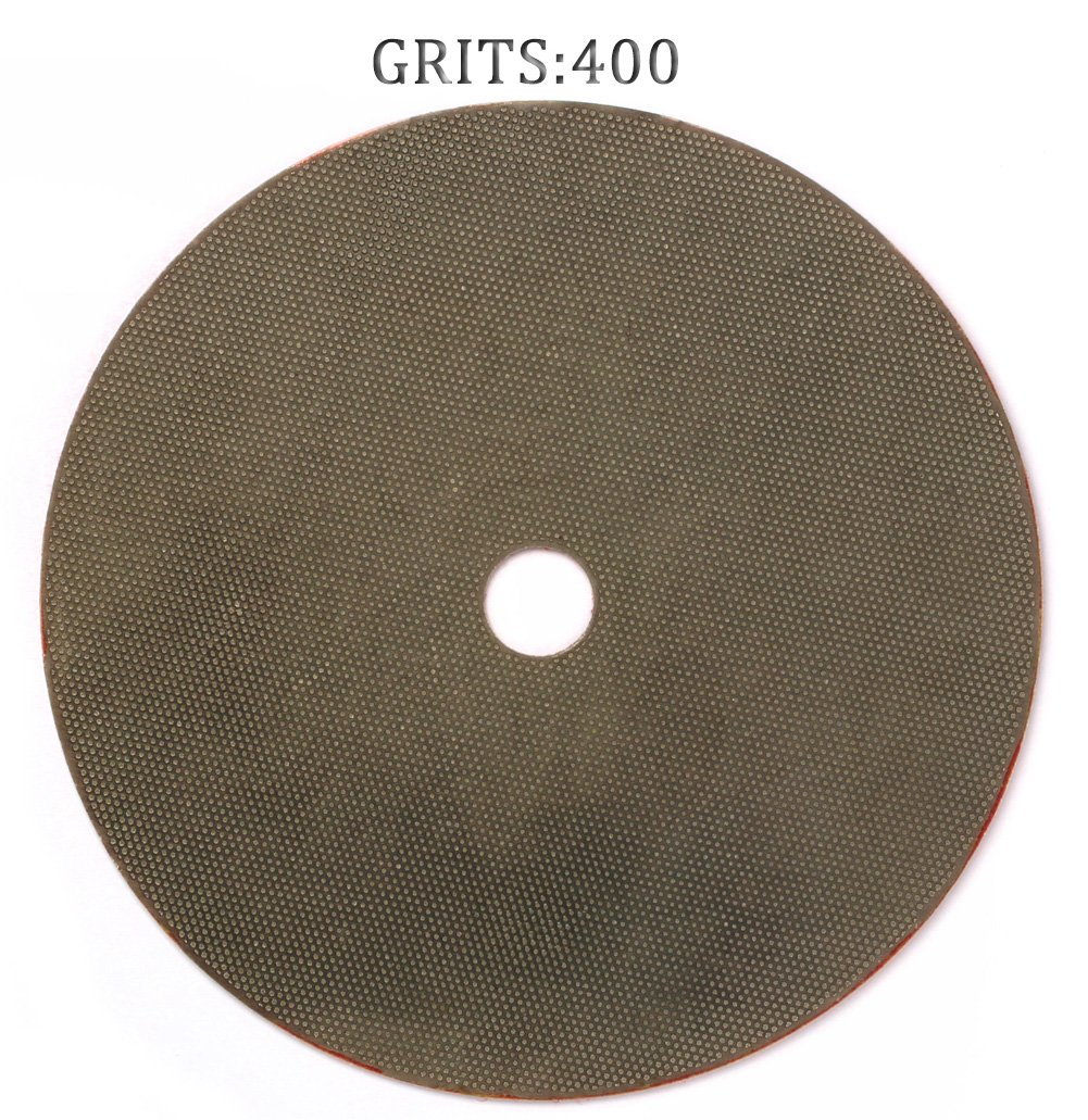 Z-Lion 7 Inches Diamond Polishing Pads Electroplated Grit 400 Professional for Glass