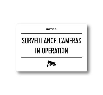 Señal – cámaras de vigilancia en funcionamiento