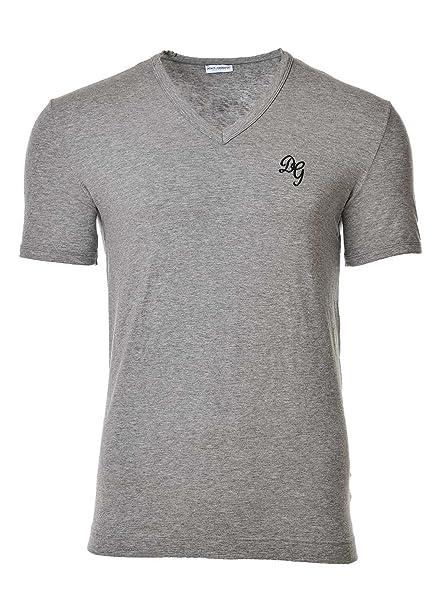 Dolce & Gabbana Camiseta Hombre V Profondo, D & G, Manga Corta, Uni, Logotipo - Gris: Amazon.es: Ropa y accesorios