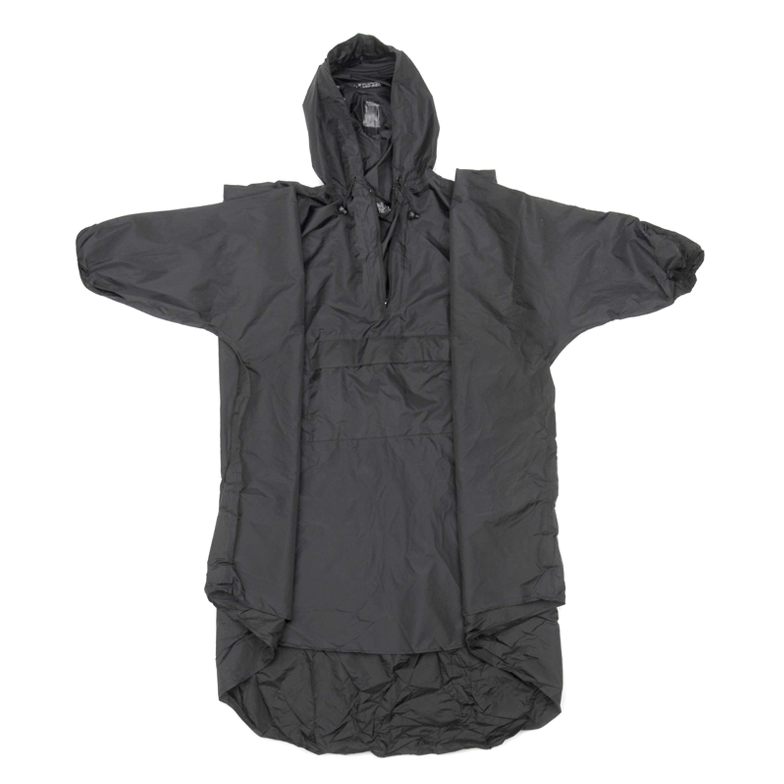 Snugpak Patrol Poncho, Waterproof, One Size, Lightweight, Suitable for Hiking, Camping, and Hunting, Black by Snugpak