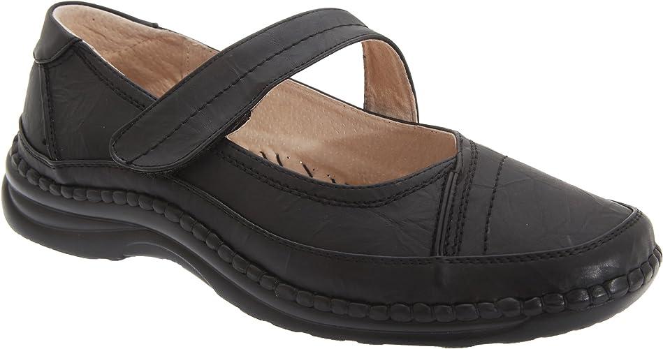 Womens Ladies X Wide Fit EEE Low Wedge Heel Faux Suede Shoes Pumps Black 4 5 6 7