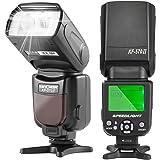 K&F Concept Flash per Canon Nikon Esterno Speedlite Universale NG54 Modalità Wireless S1/S2 Funzione Zoom con Display LCD