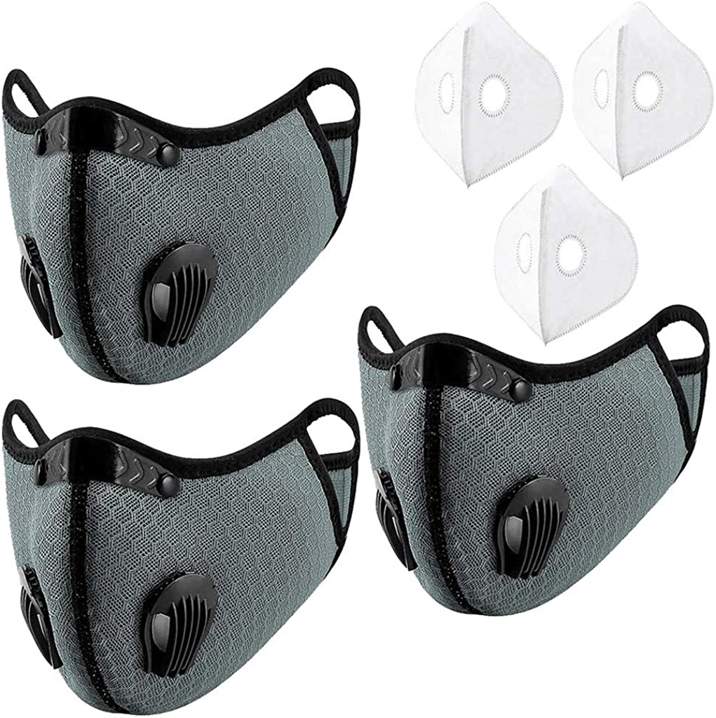 Outdoor Dustproof Face Coverings with Filters, Windproof Cycling Bandanas for Outdoor, Hiking, Motorcycles