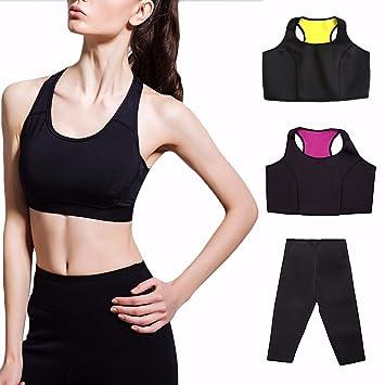 30bd0ff67e Women Neoprene Hot Thermo Sweat Shaper Sauna Suits Slimming Pants Fat  Burner Body Black S M L XL XXL XXXL