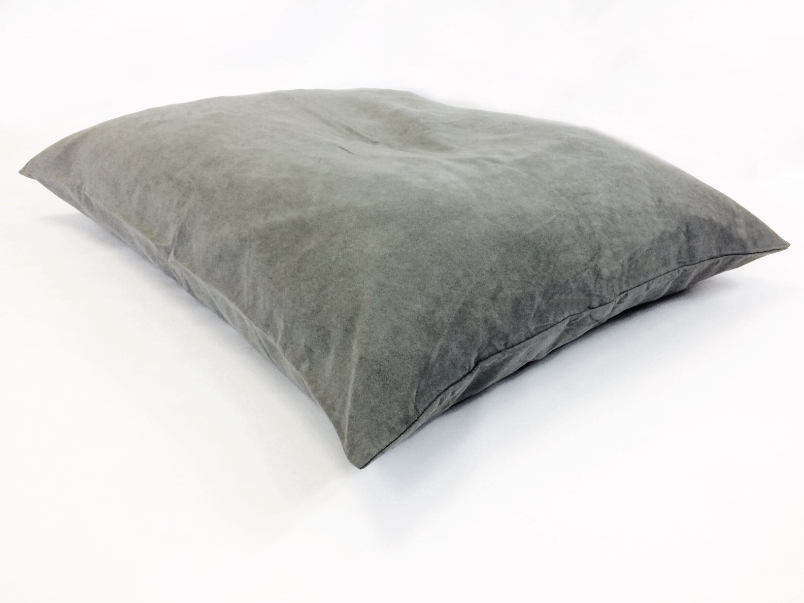 36''x29'' Medium Size MicroCushion High Density Memory Foam Soft Poly Fiber Waterproof Pet Pillow Bed with Removable Zippered Luxurious Soft Grey Suede Cover Case for Small to Medium Dogs