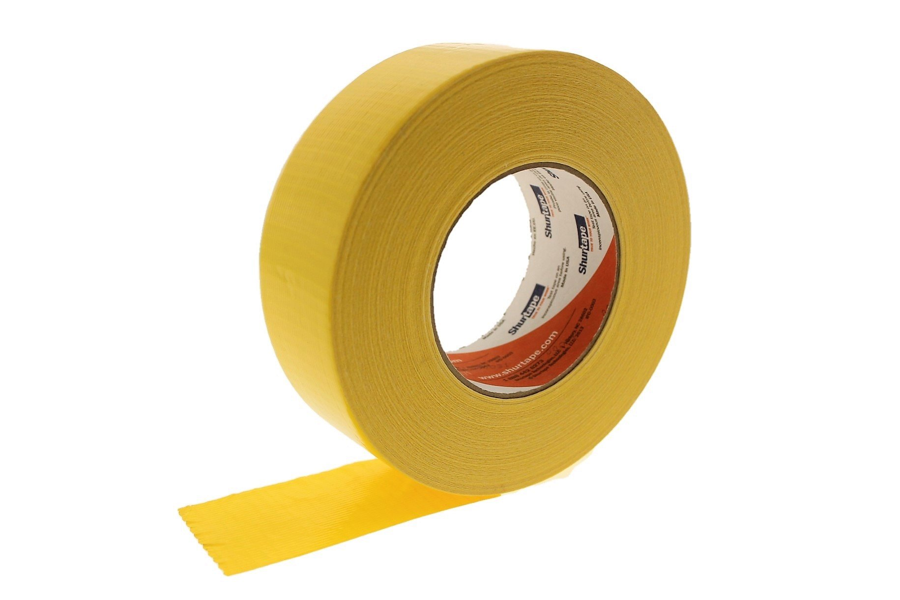 PC-600 Shurtape 2'' Yellow 9 Mil Cloth Duct Tape Waterproof Hand Tearable UV Resistant High Visibility Industrial Grade Heavy Duty Pro Colored Duct Tape Colors USA Made 60yd