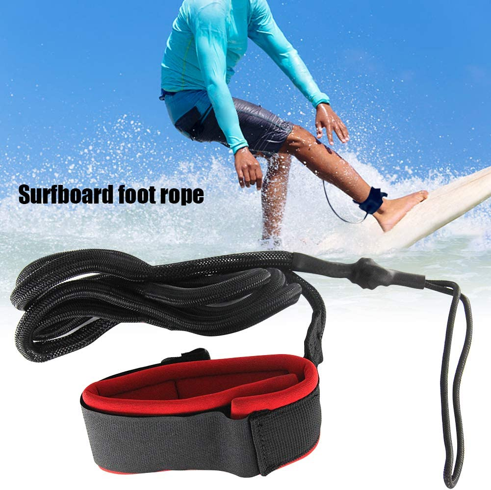 Boogie Boards Replacement PVC Surfboard Leash Foot Rope Longboard SUP Legrope Strap for Shortboard Paddleboard Surfboard Leash